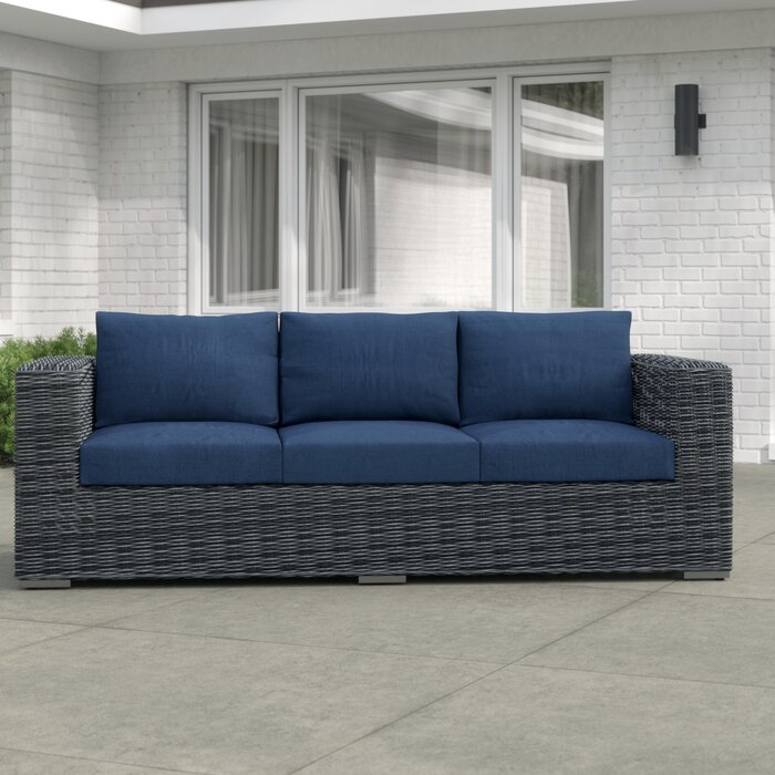 Groovy Keiran Patio Sofa With Cushions Pabps2019 Chair Design Images Pabps2019Com