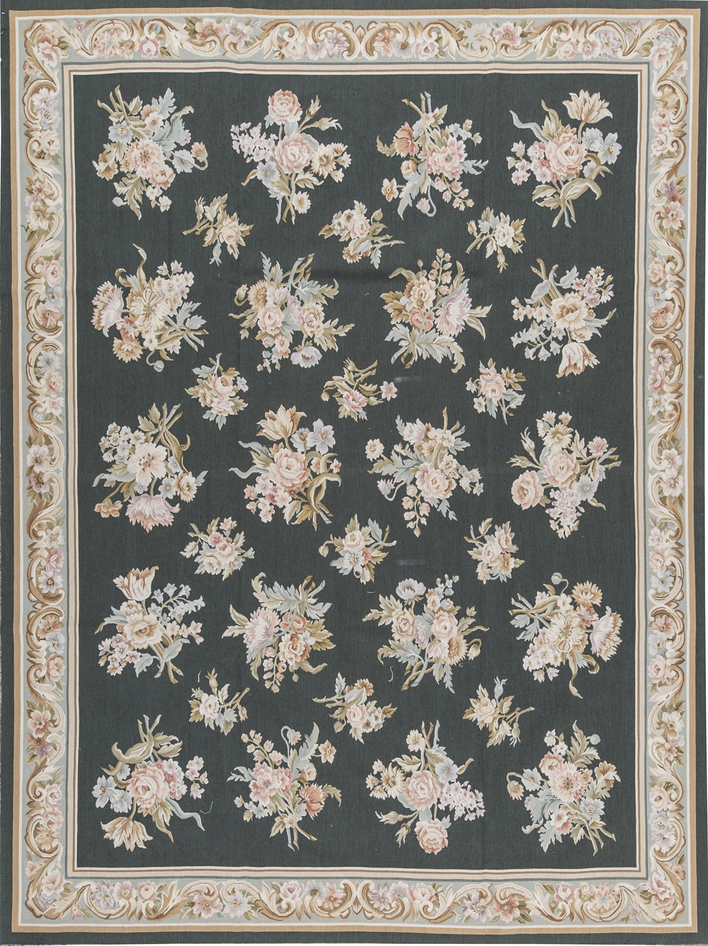 Bokara Rug Co Inc Aubusson Oriental Hand Knotted Wool Green Beige Area Rug Wayfair