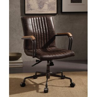 Kimble Genuine Leather Executive Chair by Williston Forge
