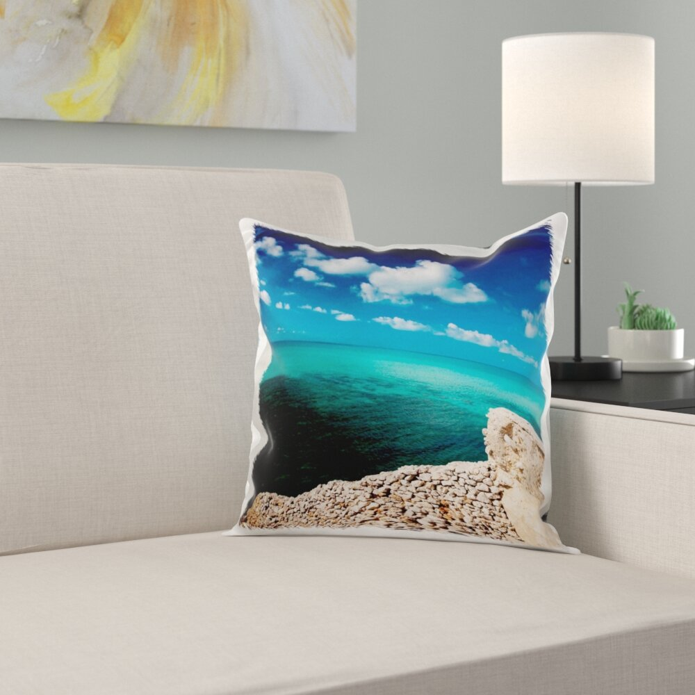 East Urban Home Bahamas Eleuthera Island Glass Window Bridge Pillow Cover Wayfair