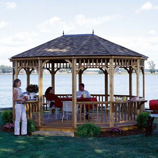 Monterey 16 Ft. W x 12 Ft. D Solid Wood Patio Gazebo by Handy Home