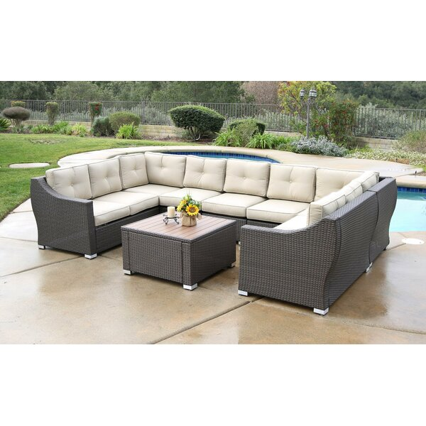 Darby Home Co Ehlers 8 Piece Sectional Set With Cushions Wayfair