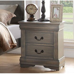 Charlton Home Trafford 2 Drawer Nightstand