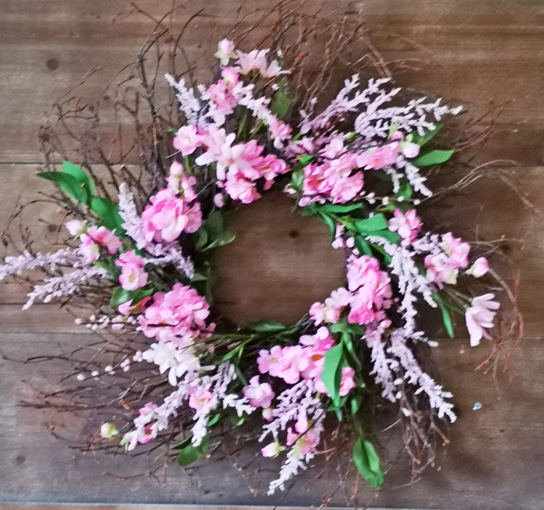 The Holiday Aisle Blossom 26 Foam Silk Wreath Wayfair