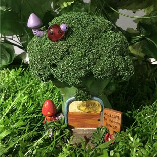 Fairy Garden Broccoli House with Lights Statue by Hi-Line Gift Ltd.