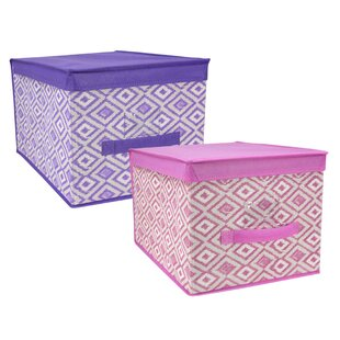 Read Reviews Large Ikat Storage Box ByHome Basics