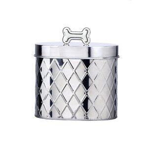 Oval Metal 1.62 qt. Pet Treat Jar