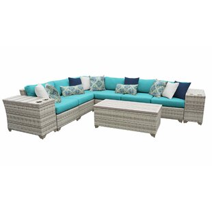 Falmouth 9 Piece Sectional Seating Group with Cushions