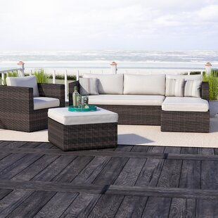 Brighton 4 Piece Lounge Sectional with Cushions by Sol 72 Outdoor