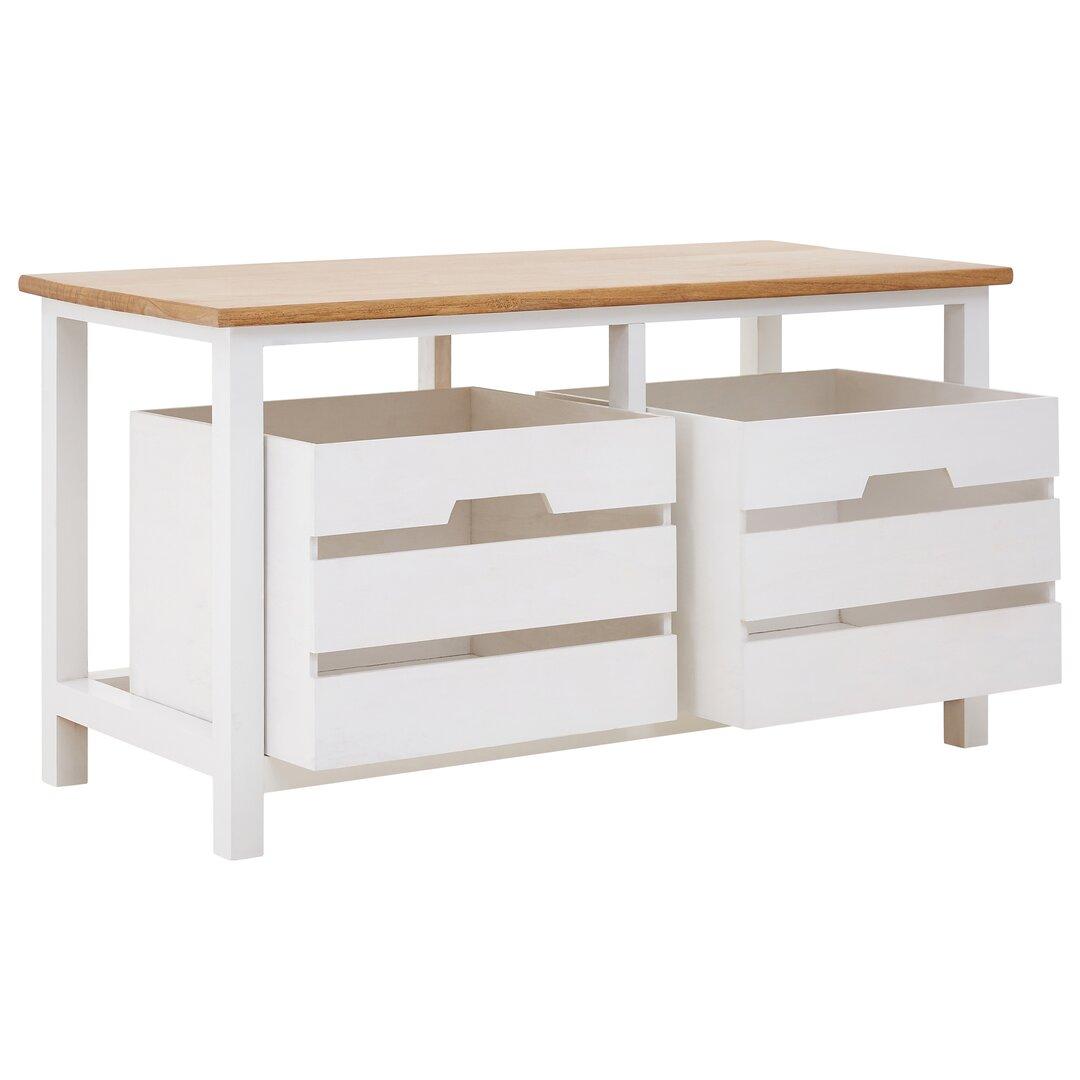 Cedar Grove 2 Drawer Wood Storage Bench