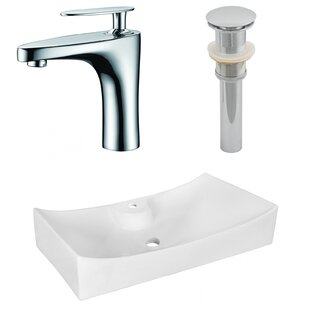 Look for Above Counter Ceramic Specialty Vessel Bathroom Sink with Faucet ByRoyal Purple Bath Kitchen