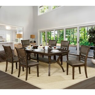 Gaenside 7 Piece Dining Set Loon Peak