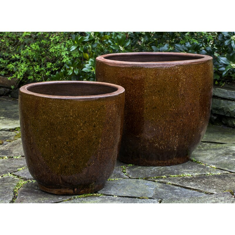 Bloomsbury Market Nari 2 Piece Terracotta Pot Planter Set Wayfair