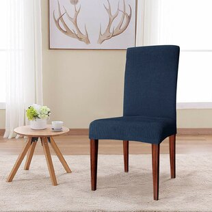 Knitting Jacquard Box Cushion Dining Chair Slipcover (Set of 4)