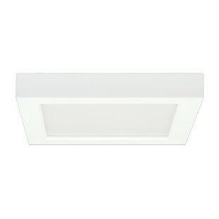 Elzy Square 1-Light LED Flush Mount By Orren Ellis Wall Lights