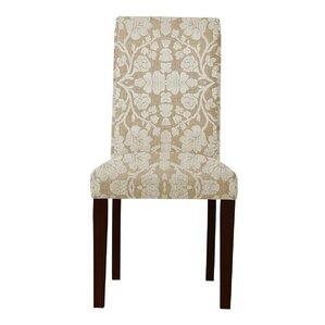 Lattimore White/Brown Upholstered Parsons..