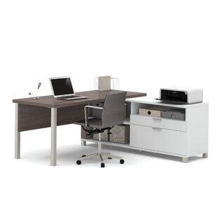 Ariana L-Shape Desk Office Suite by Mercury Row