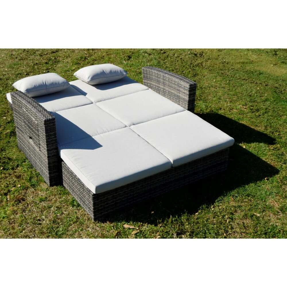 Salamone Outdoor Double Chaise Lounge