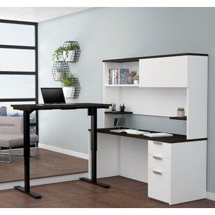 Latitude Run Hartleton Reversible L-Shape Corner Desk with Hutch