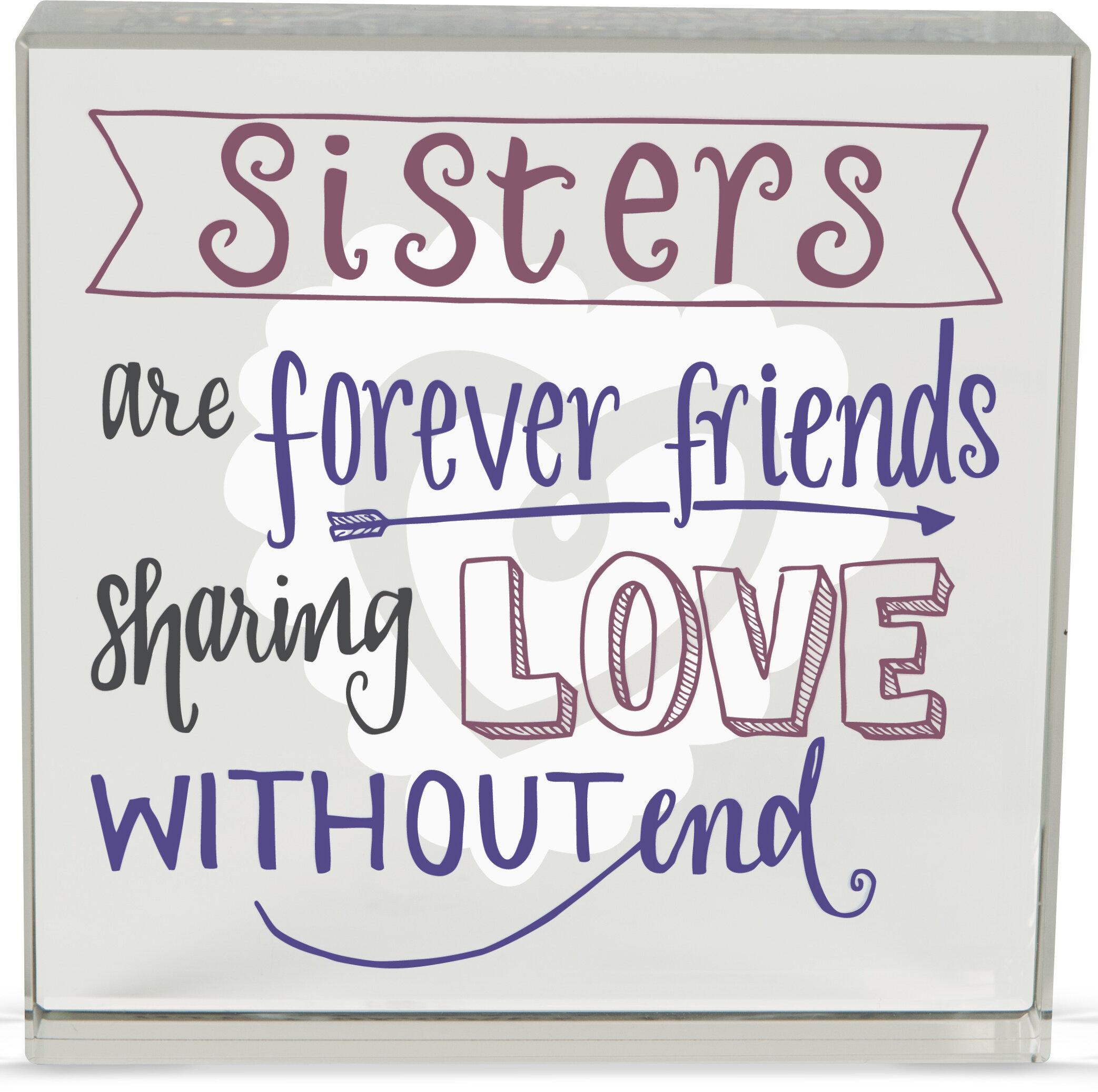 Angelstar Sister Rachel Anne Textual Art Plaque Wayfair