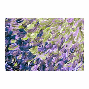 Ebi Emporium Frosted Feathers Painting Purple/Lavender Area Rug