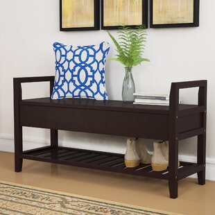 Best Deals Jacquelyn Espresso Storage Shoe Bench By Winston Porter