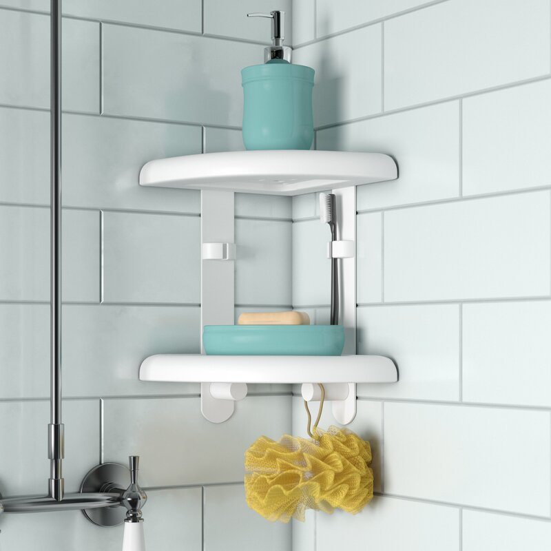 Rebrilliant Two Tier Corner Shower Caddy & Reviews | Wayfair