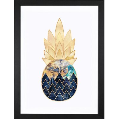 Wrought Studio 'Precious Pineapple I' Photographic Print Format: Black Frame, Size: 32 H x 24 W x 1 D