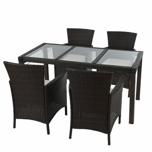 4-Sitzer Loungemöbel-Set Alair aus Polyrattan m..