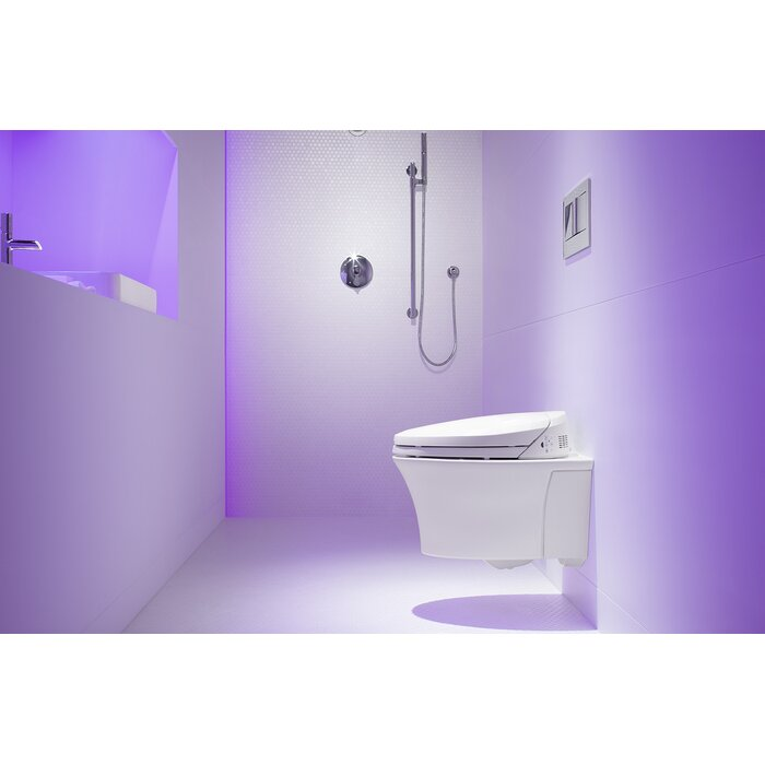 Kohler Veil One-Piece Elongated Dual-Flush Wall-Hung Toilet with C3 ...