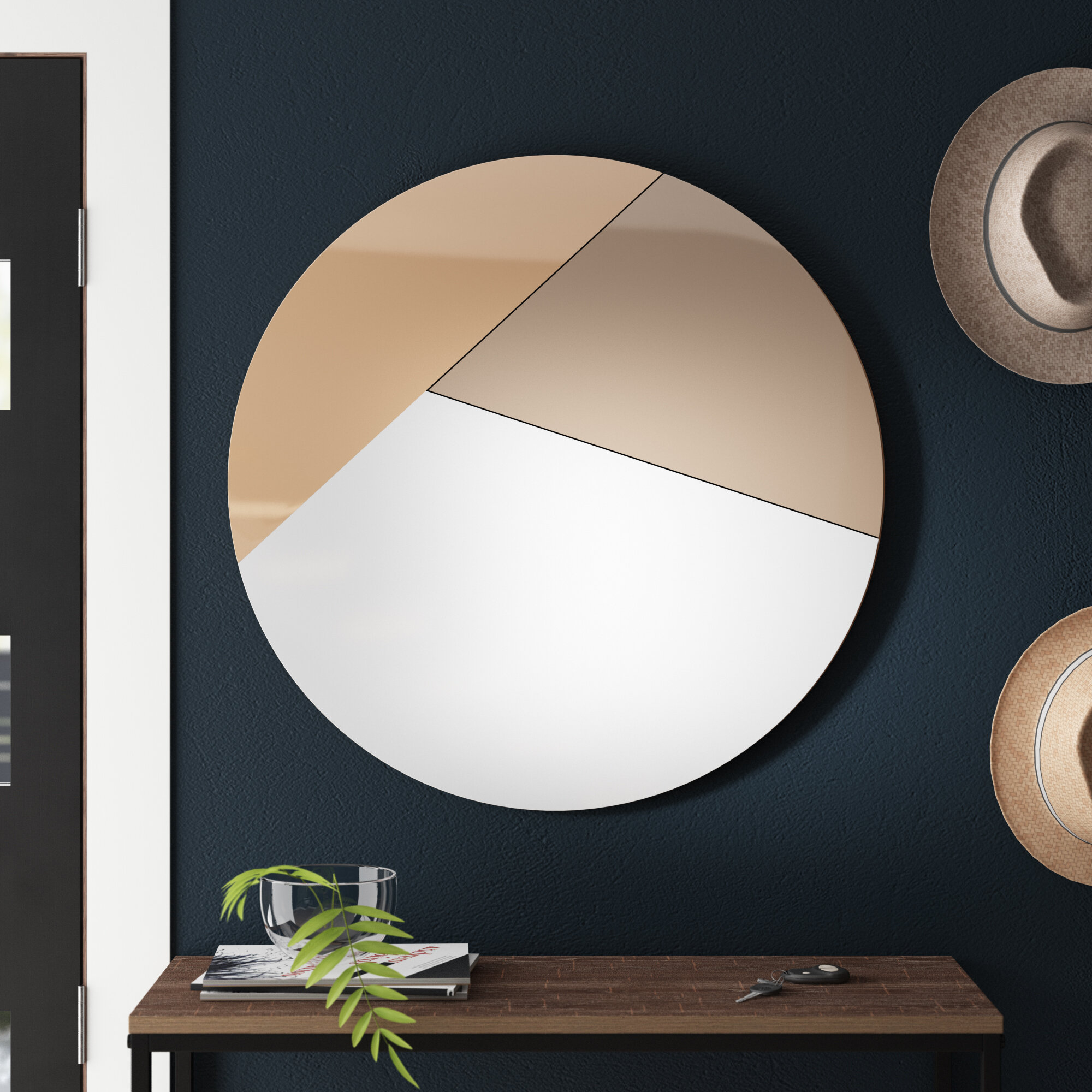 Wanstead Modern Contemporary Frameless Accent Mirror