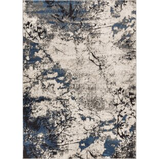 Affordable Price Emmi Blue/Gray Area Rug By Williston Forge