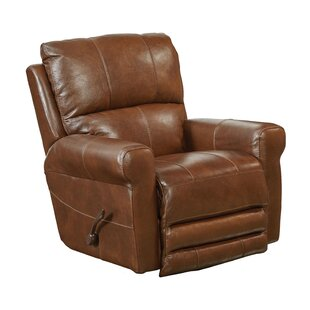 Hoffner Leather Manual Glider Recliner