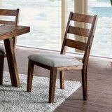 Aponte Ladder Back Side Chair in Brown (Set of 2) by Foundry Select