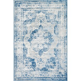 Top Reviews Brandt Tibetan Blue/Ivory/Beige Area Rug By Mistana