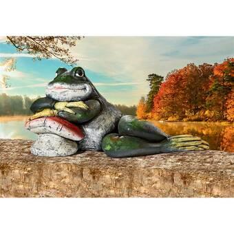 August Grove Simmerman Frog On Branch Statue Wayfair