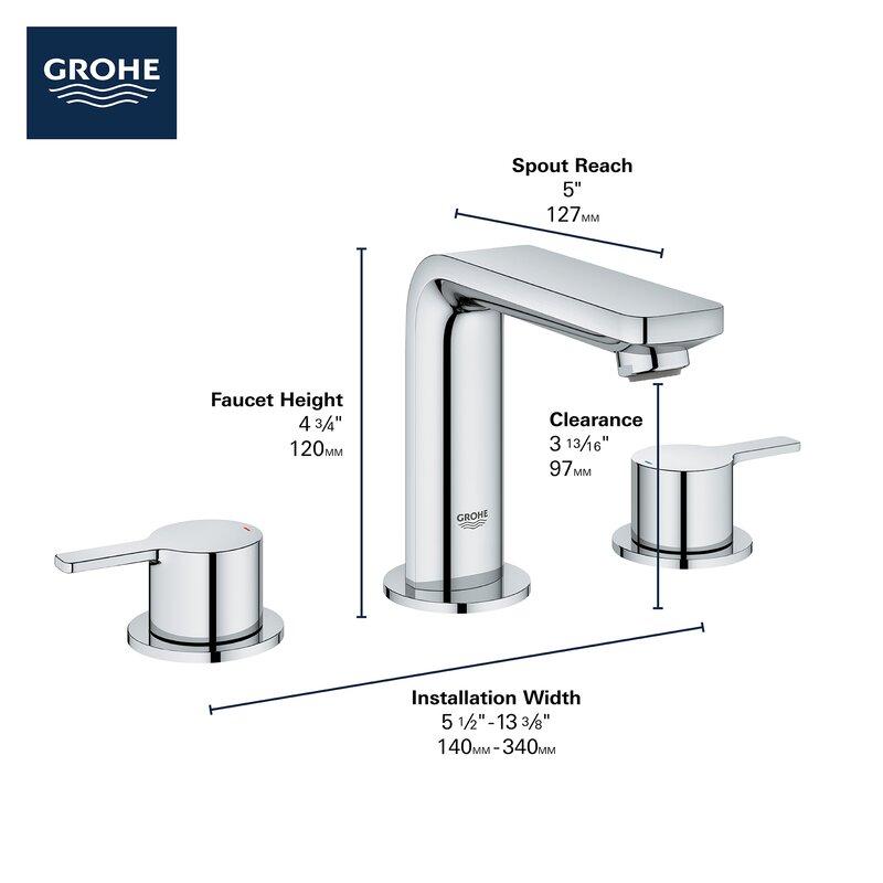 Lineare Widespread Bathroom Faucet