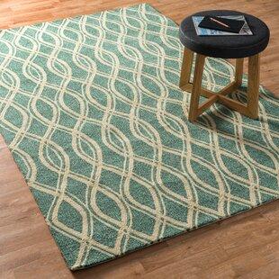 Danko Hand-Hooked Green/Beige Indoor/Outdoor Area Rug