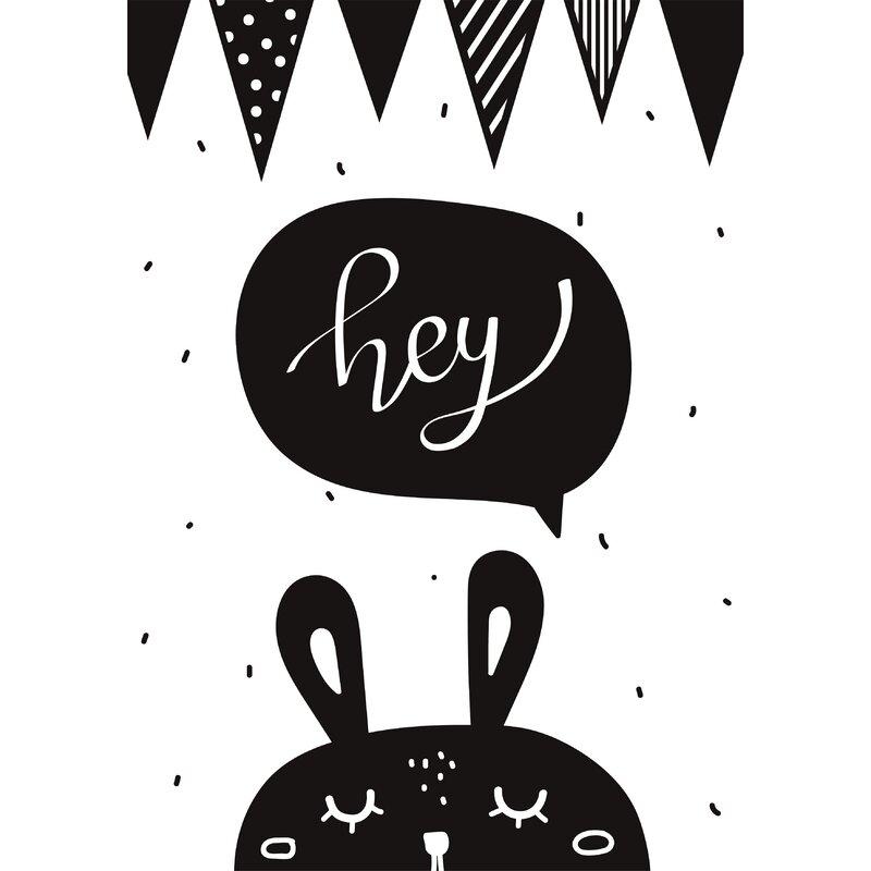 Snuz Hey Bunny Nursery Print Wayfair