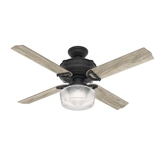 52 Brunswick 4 Blade Ceiling Fan With Remote Light Kit Included