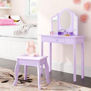 Purple Kids Bedroom Vanities You\'ll Love | Wayfair