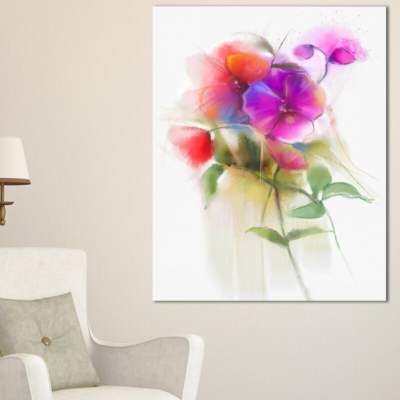 DesignArt Bunch of Colorful Orchid Flowers Large Flower Wall Art on ...