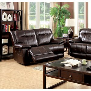 Reinhart Leather Reclining Loveseat by Darby Home Co