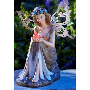 Superieur Latrobe Solar Powered Garden Fairy With Glowing Cardinal Statue