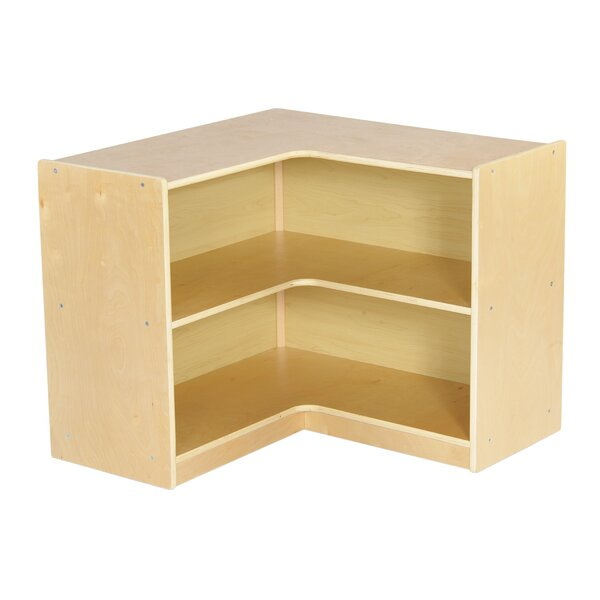 Ecr4kids Corner 2 Compartment Shelving Unit With Casters