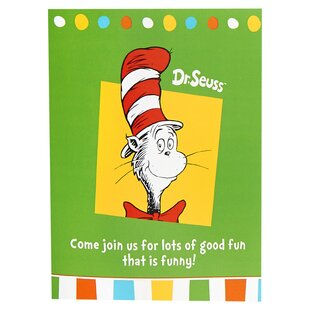Dr. Seuss Favorites Paper/Plastic Disposable Invitations (Set of 8)