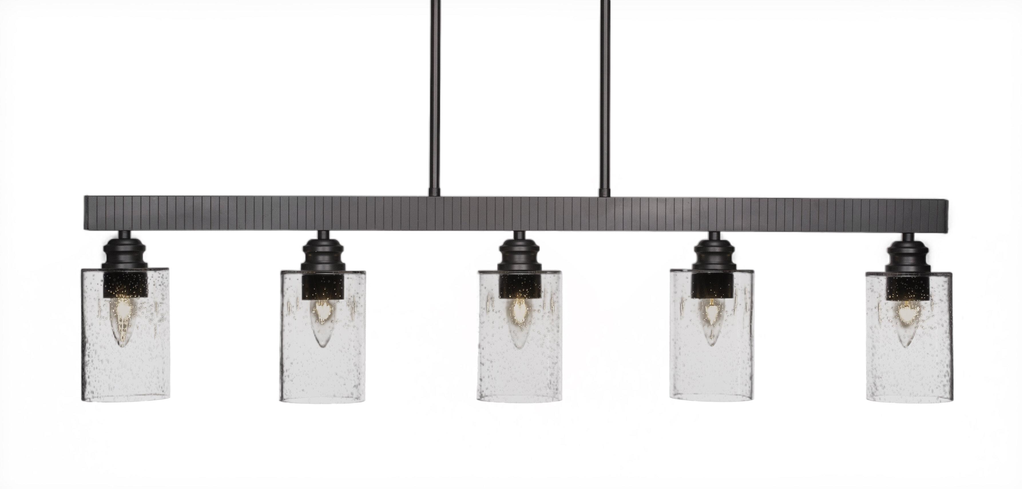 Ebern Designs Keon 5 Light Kitchen Island Linear Pendant Wayfair