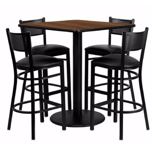 Harbaugh Square Laminate 5 Piece Pub Table Set Red Barrel Studio