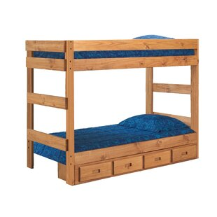 Poisson Stackable Twin Over Twin Bunk Bed with Mattress