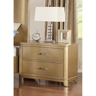 Mercer41 Kleio 2 Drawer Nightstand